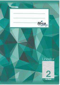 Schreibheft DIN A5 liniert -  Lineatur 2 - 2. Klasse