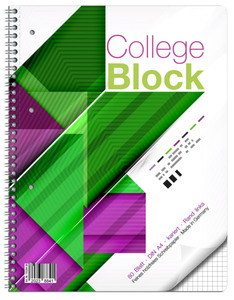 Collegeblock DIN A4 kariert - Lineatur 28
