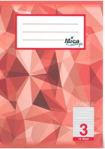 Schulheft DIN A5 liniert -  Lineatur 3 - 3. Klasse