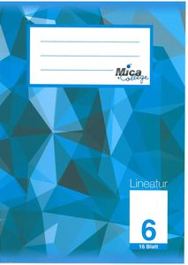 Schulheft DIN A5 blanko - Lineatur 6