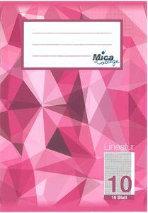 Schulheft DIN A5 kariert mit weißem Rand - Lineatur 10