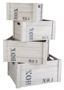 Deko-Kiste - aus Holz - 1 Stück
