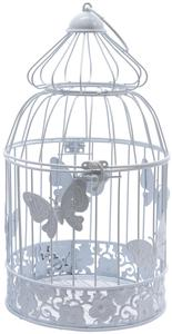Deko-Käfig - aus Metall - 14 x 27 cm