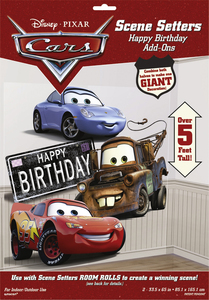 Disney Cars - Scene Setters Wanddekoration - Happy birthday - 85 x 165 cm