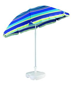 Sonnenschirm gestreift mit Kippmechanismus UPF50+