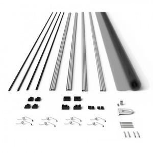 Powertec Alu-Fliegengitter-Bausatz Slim 100x120cm anthrazit
