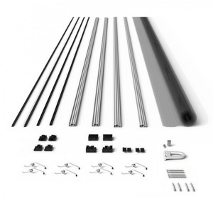 Powertec Alu-Fliegengitter-Bausatz Slim 100x120cm braun