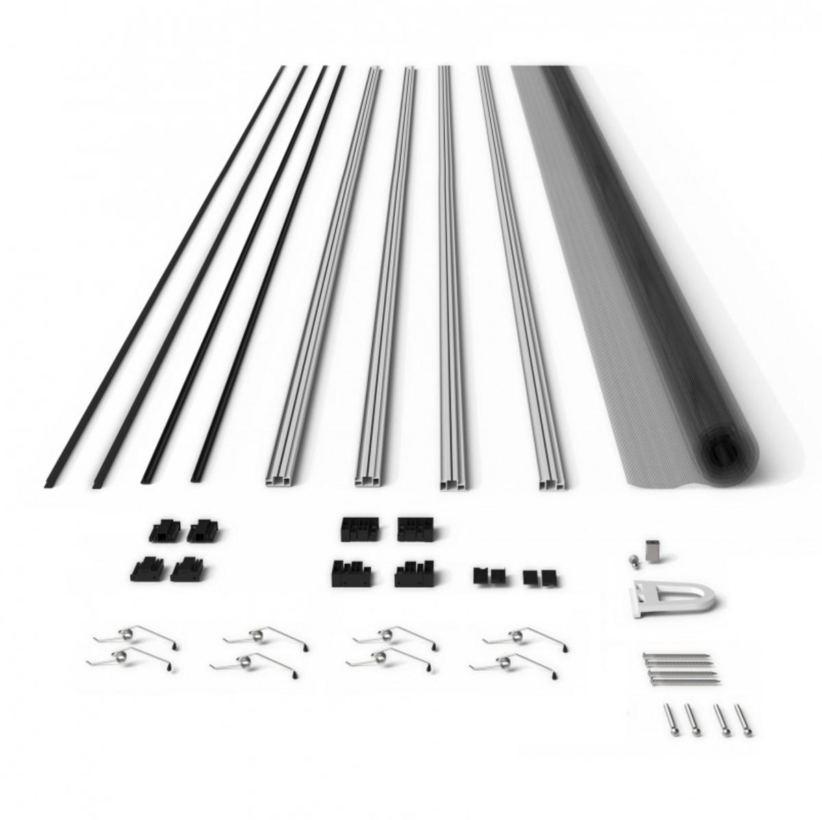 Bild 1 von Powertec Alu-Fliegengitter-Bausatz Slim 100x120cm braun