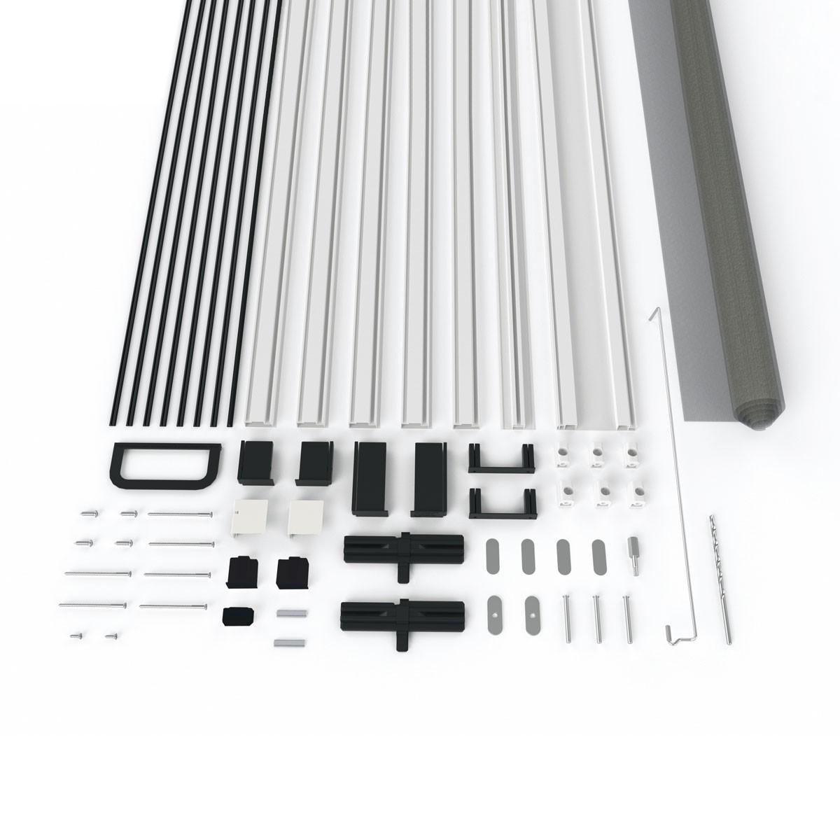 Bild 3 von Powertec Alu-Türbausatz MASTER SLIM+ 100 x 210 cm in Weiß