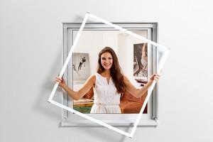 Powertec Alu-Fensterbausatz Slim 130x150cm braun