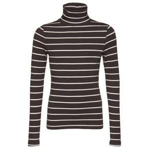 gestreifter Rollkragen-Pullover