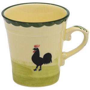 Zeller Keramik Tasse Hahn und Henne, 200 ml