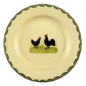 Zeller Keramik Teller, flach Hahn und Henne, Ø 25 cm
