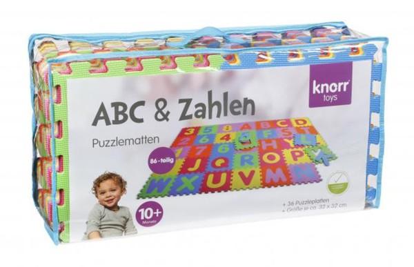 Knorrtoys Puzzlematten Alphabet + Zahlen (36 tlg)