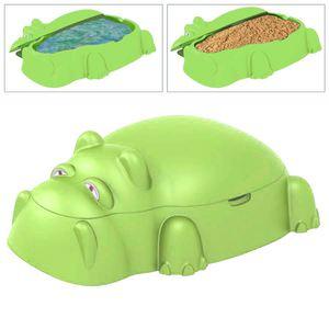Planschbecken/Sandkasten Hippo Grün