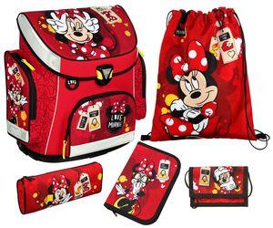 Scooli Schulranzen Set - Minnie Mouse - Campus Plus - 5 Teile