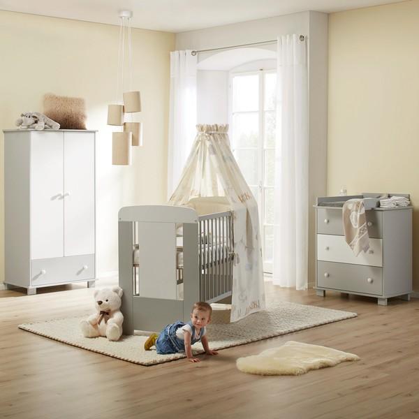 Babyzimmer Kitty in Weiß-grau von Mömax ansehen!