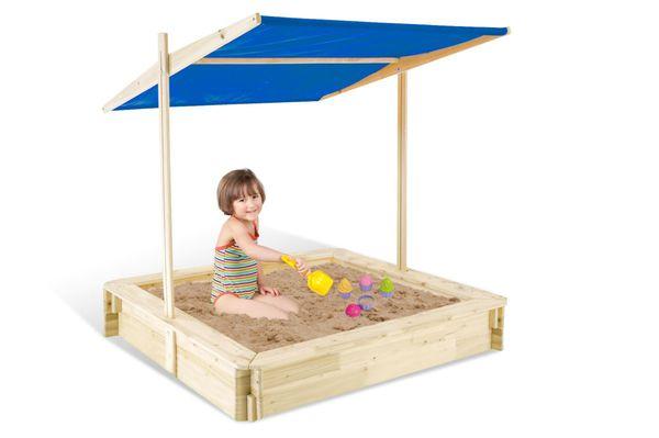 Sandkasten aus Holz mit Dach - Beluga