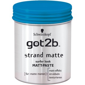 Schwarzkopf got2b Matt-Paste Strand Matte surfer look