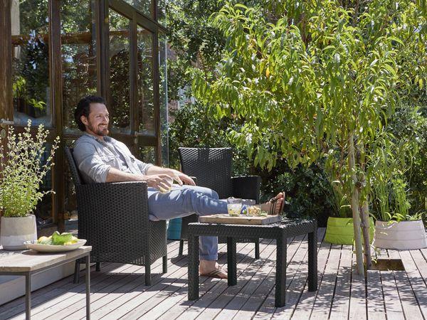 Allibert balkon gartenm bel set 3 teilig von lidl ansehen - Gartenmobel 3 teilig ...