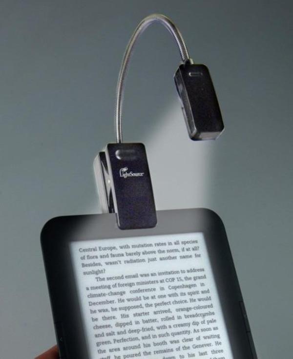 eBook Reader Booklight Leselampe Schwarz