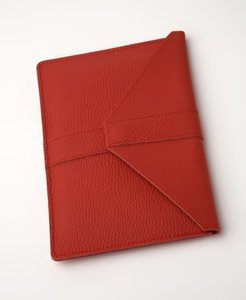 Times Square Echtledertasche für E-Reader und Mini Tablets Rosso
