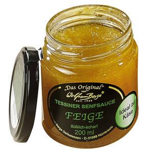 BERGE DELIKATESSEN             Tess. Feigen Senfsauce 200 ml Glas