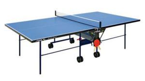 STIGA Outdoor Roller Tischtennis-Tisch inkl. Schläger-Set & Abdeckhülle
