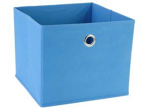 Aufbewahrungsbox blau, faltbar 25x25x21cm