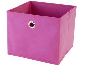 Aufbewahrungsbox pink, faltbar 25x25x21cm