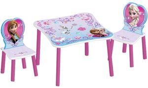 Delta - Holz Kinder-Sitzgruppe - Die Eiskönigin - Tisch ca. 60 x 60 x 44, Stühle ca. 26 x 26 x 51 cm