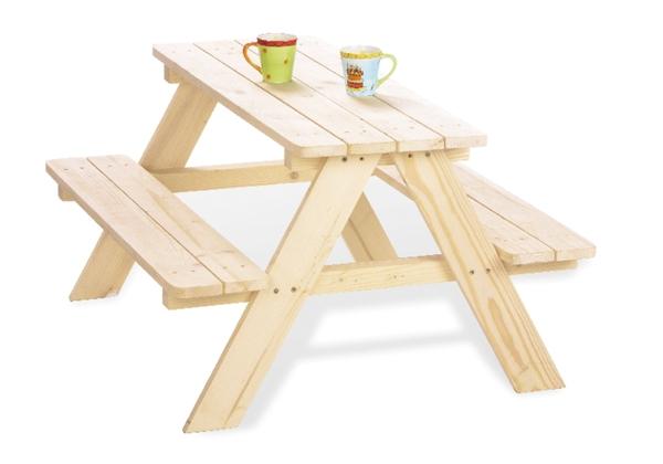 Pinolino - Holz Picknicktisch für Kinder - Nicki - ca. 90 x 85 x 50 cm
