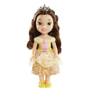 Disney Princess - Puppe Belle - 35 cm groß - mit Glitzerkleid