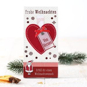 Weihnachtsschokolade- Herz 3,99 € / 100g