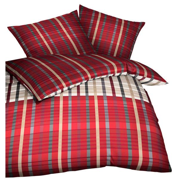 kaeppel satin bettw sche streifen rot von karstadt. Black Bedroom Furniture Sets. Home Design Ideas