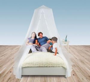 EASYmaxx Moskitonetz 65x250cm weiß für Doppelbetten mit Magnetverschluss