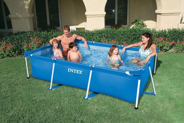 Intex Frame Pool - rechteckig - größe 300x200x75cm