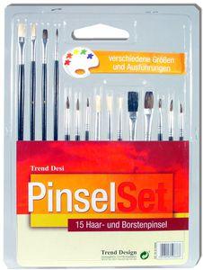 Künstler-Pinselset 15teilig