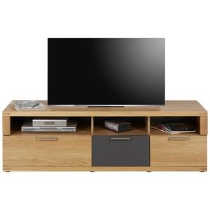 TV-Element in Graphit/Eiche