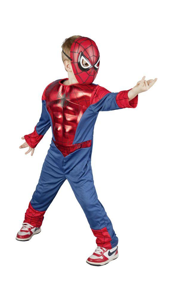 Ultimative Spiderman Kostüm - Muscle Chest- für Kinder