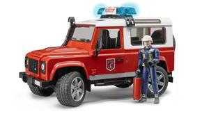 Bruder 2596 Land Rover Defender Station Wagon  Feuerwehreinsatzwagen mit Feuerwehrmann