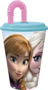 Trinkbecher - Die Eiskönigin - 430 ml + Trinkhalm