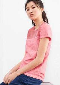 Garment Dye-Shirt mit Spitze