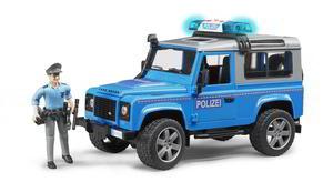 Bruder 2597 Land Rover Defender Station Wagon Polizeifahrzeug mit Polizist