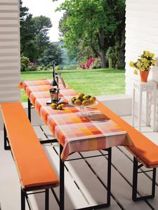Biertischauflagen-Set - orange - 70x240 cm