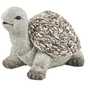Gartendekoration Schildkröte aus Polyresin Steinoptik für den Garten