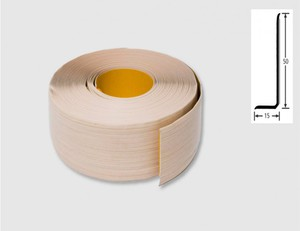 Weichsockelprofil Ahorn 50 mm