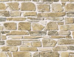 Papiertapete Stein beige