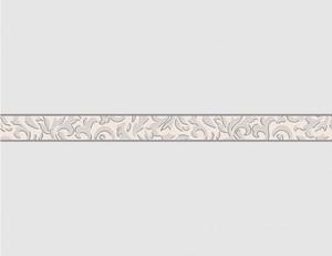 Tapetenborte Vinyl Stil silber
