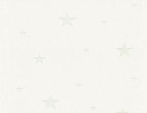 Vliestapete Leucht-Sterne Weiss
